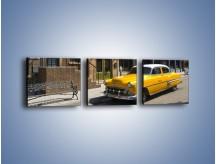 Obraz na płótnie – Amerykańska taksówka z lat 55 – trzyczęściowy TM164W1
