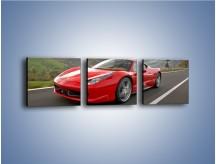 Obraz na płótnie – Czerwone Ferrari 458 Italia – trzyczęściowy TM194W1