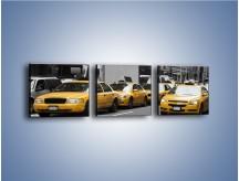 Obraz na płótnie – Amerykańskie taksówki w korku ulicznym – trzyczęściowy TM219W1