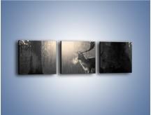 Obraz na płótnie – Jeleń w sepii – trzyczęściowy Z250W1