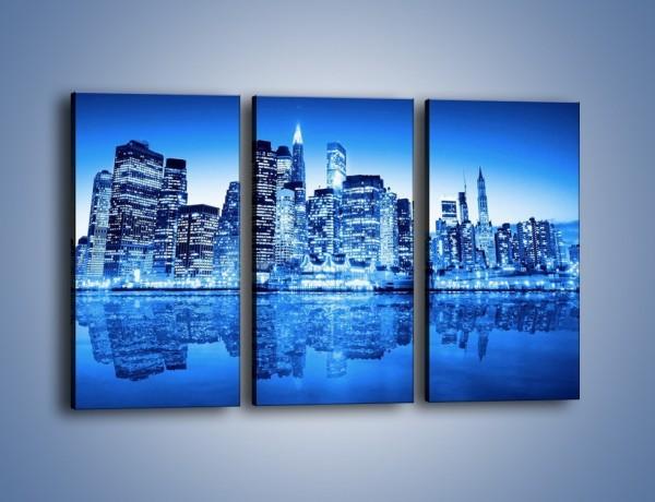 Obraz na płótnie – Odbicie miasta w tafli wody – trzyczęściowy AM004W2