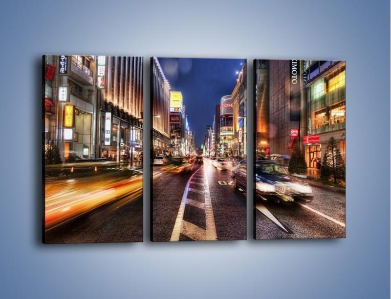 Obraz na płótnie – Tokyo w ruchu – trzyczęściowy AM015W2