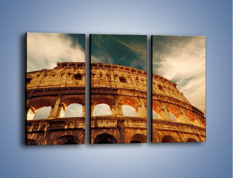 Obraz na płótnie – Koloseum w świetle słońca – trzyczęściowy AM044W2