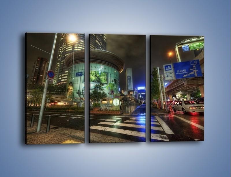 Obraz na płótnie – Spokojne Tokyo nocą – trzyczęściowy AM056W2