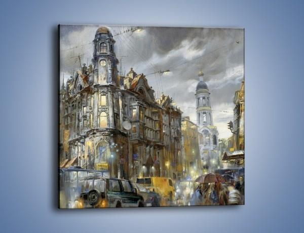 Obraz na płótnie – Ścisk miejskich uliczek – jednoczęściowy kwadratowy GR233