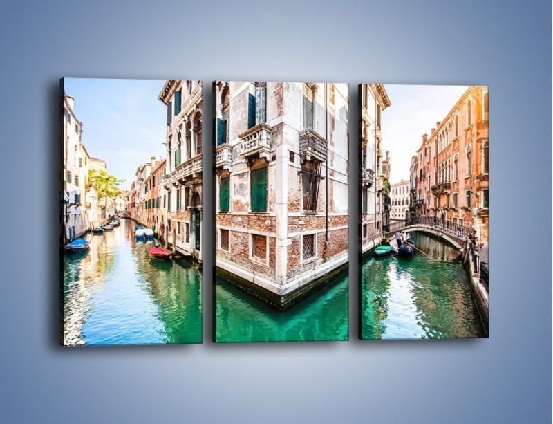 Obraz na płótnie – Skrzyżowanie wodne w Wenecji – trzyczęściowy AM081W2