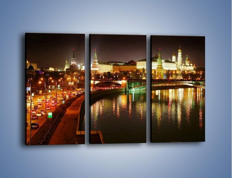 Obraz na płótnie – Moskwa nocą – trzyczęściowy AM118W2