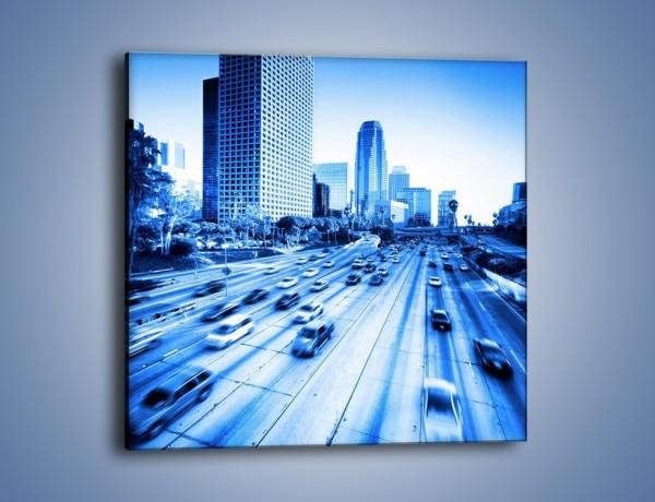 Obraz na płótnie – Zatłoczona autostrada w ruchu – jednoczęściowy kwadratowy AM028