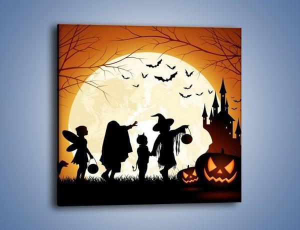 Obraz na płótnie – Mali bohaterowie w halloween – jednoczęściowy kwadratowy GR234