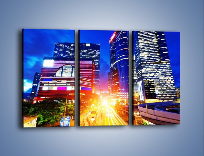 Obraz na płótnie – Miasto w żywych kolorach – trzyczęściowy AM131W2