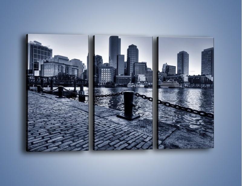 Obraz na płótnie – Wybrukowana wybrzeże miasta – trzyczęściowy AM132W2