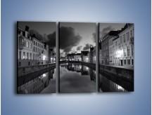 Obraz na płótnie – Urokliwe miasteczko nad kanałem wodnym – trzyczęściowy AM134W2