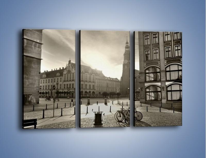 Obraz na płótnie – Rynek Starego Miasta – trzyczęściowy AM136W2