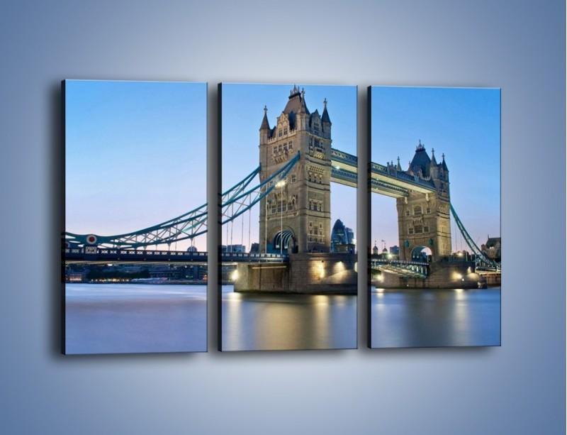 Obraz na płótnie – Tower Bridge o poranku – trzyczęściowy AM143W2