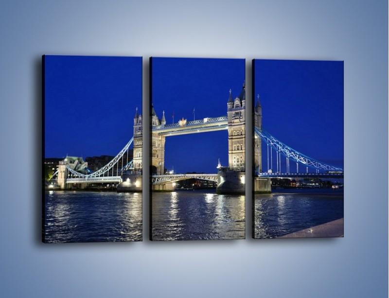 Obraz na płótnie – Tower Bridge nocą – trzyczęściowy AM145W2