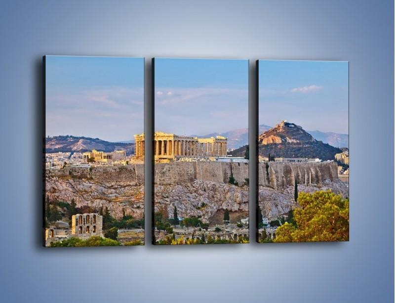 Obraz na płótnie – Ateńskie ruiny – trzyczęściowy AM162W2