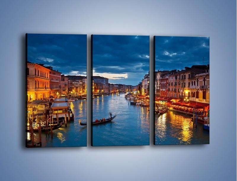 Obraz na płótnie – Wenecja romantyczną porą – trzyczęściowy AM163W2
