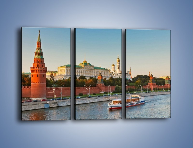 Obraz na płótnie – Kreml w środku lata – trzyczęściowy AM164W2