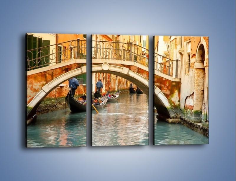 Obraz na płótnie – Weneckie gondole – trzyczęściowy AM172W2