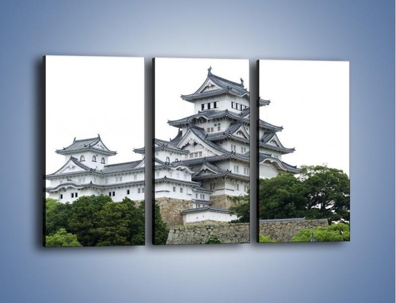 Obraz na płótnie – Azjatycka architektura – trzyczęściowy AM181W2