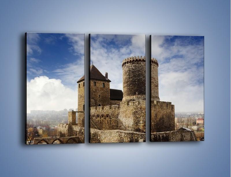 Obraz na płótnie – Średniowieczna fortyfikacja – trzyczęściowy AM201W2