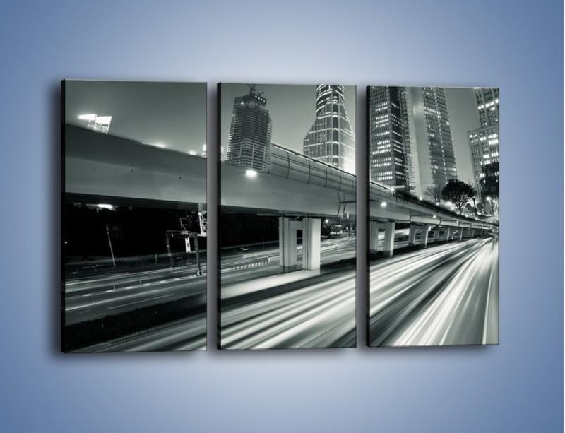 Obraz na płótnie – Miasto w odcieniach szarości – trzyczęściowy AM205W2