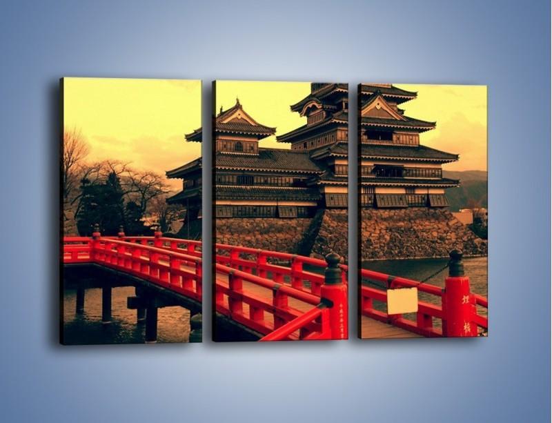 Obraz na płótnie – Japońska architektura – trzyczęściowy AM235W2