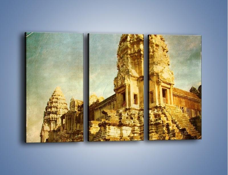 Obraz na płótnie – Starożytna architektura w stylu vintage – trzyczęściowy AM246W2