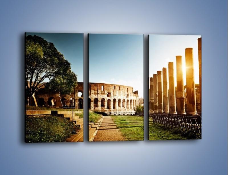 Obraz na płótnie – Koloseum w świetle słońca – trzyczęściowy AM269W2