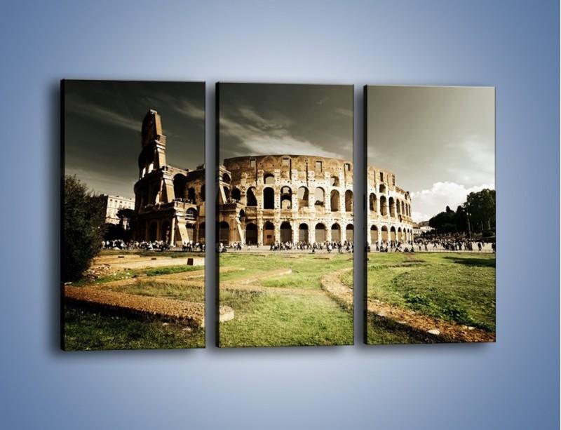 Obraz na płótnie – Koloseum przed burzą – trzyczęściowy AM271W2