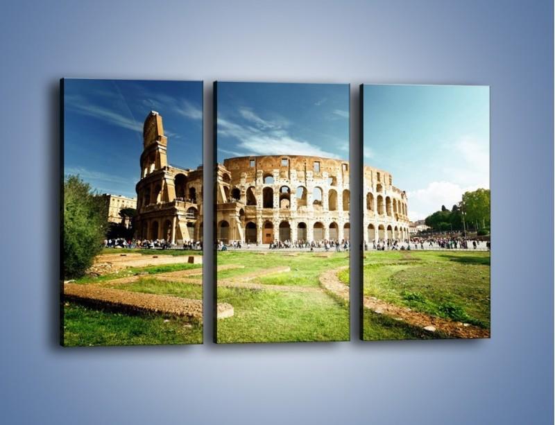 Obraz na płótnie – Koloseum w piękny dzień – trzyczęściowy AM273W2