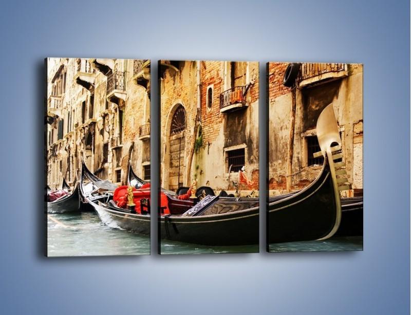 Obraz na płótnie – Wenecka gondola – trzyczęściowy AM286W2