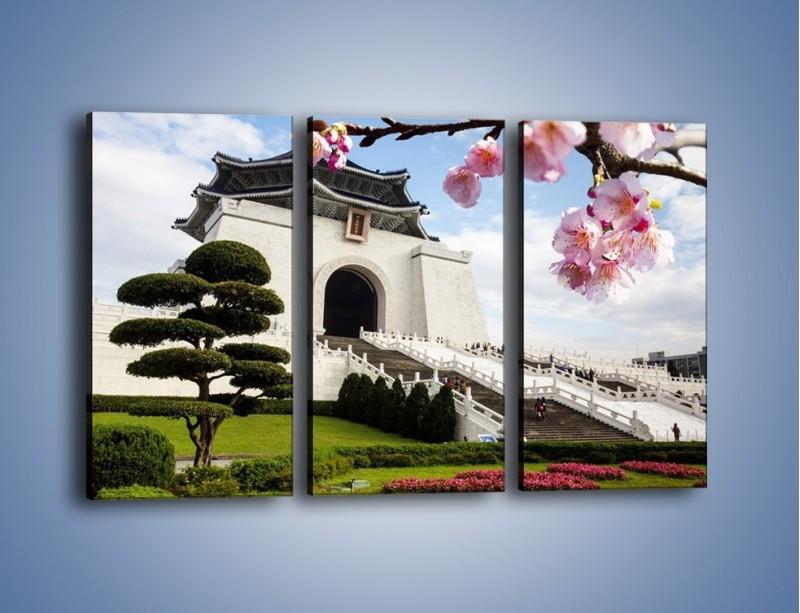 Obraz na płótnie – Azjatycka architektura – trzyczęściowy AM299W2