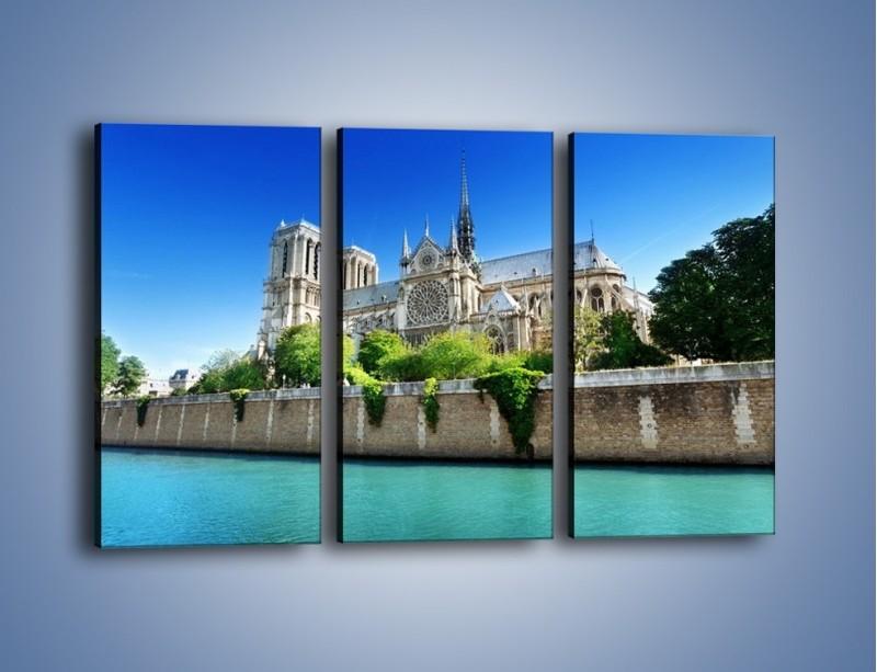Obraz na płótnie – Katedra Notre-Dame – trzyczęściowy AM305W2