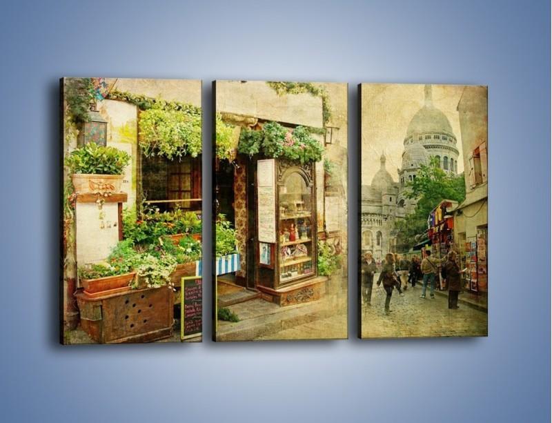Obraz na płótnie – Paryska dzielnica Montmarte – trzyczęściowy AM323W2