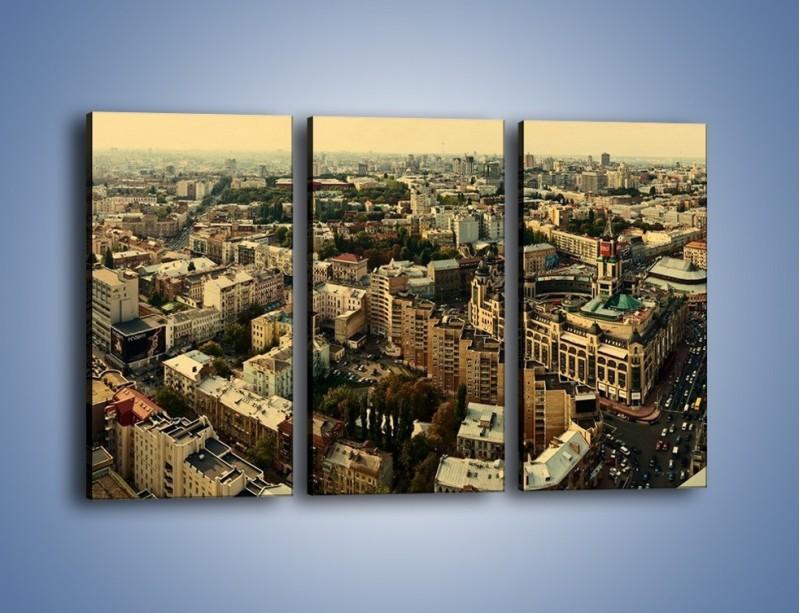 Obraz na płótnie – Panorama Kijowa – trzyczęściowy AM326W2