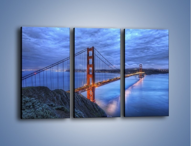 Obraz na płótnie – Most Golden Gate – trzyczęściowy AM328W2