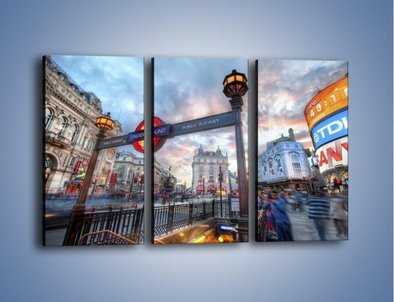 Obraz na płótnie – Wejście do londyńskiego metro – trzyczęściowy AM334W2