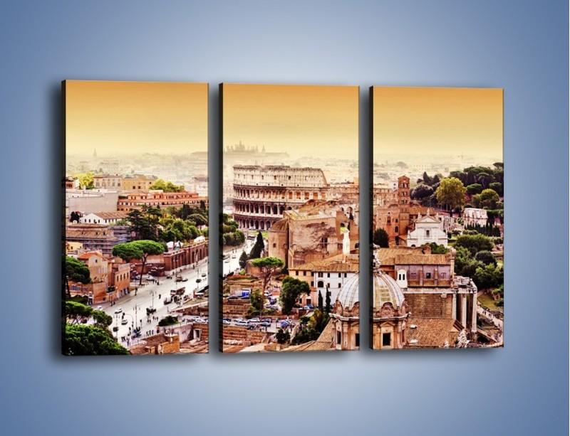 Obraz na płótnie – Panorama Rzymu – trzyczęściowy AM338W2