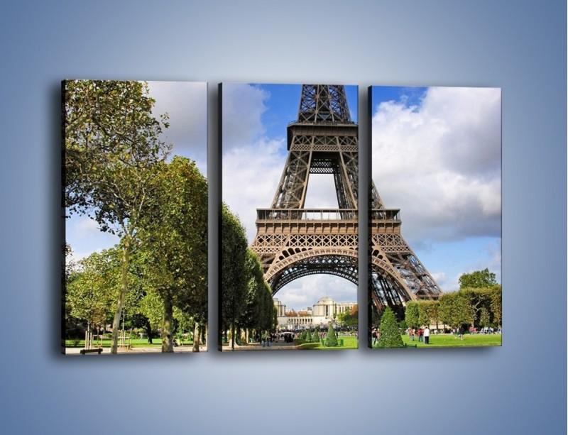 Obraz na płótnie – Wieża Eiffla – trzyczęściowy AM340W2