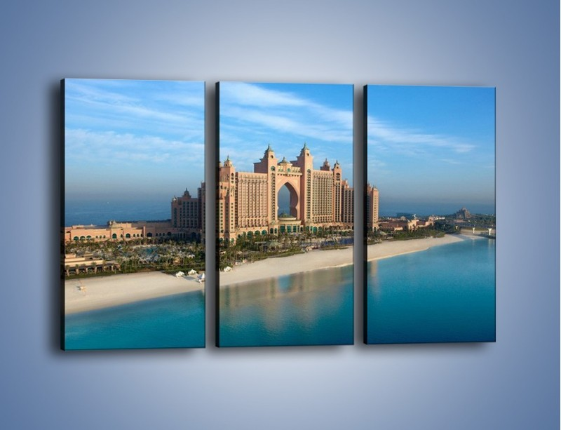 Obraz na płótnie – Atlantis Hotel w Dubaju – trzyczęściowy AM341W2