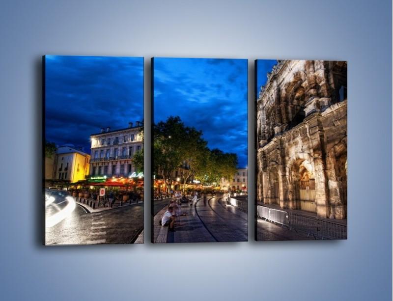 Obraz na płótnie – Nocne życie w Rzymie – trzyczęściowy AM344W2
