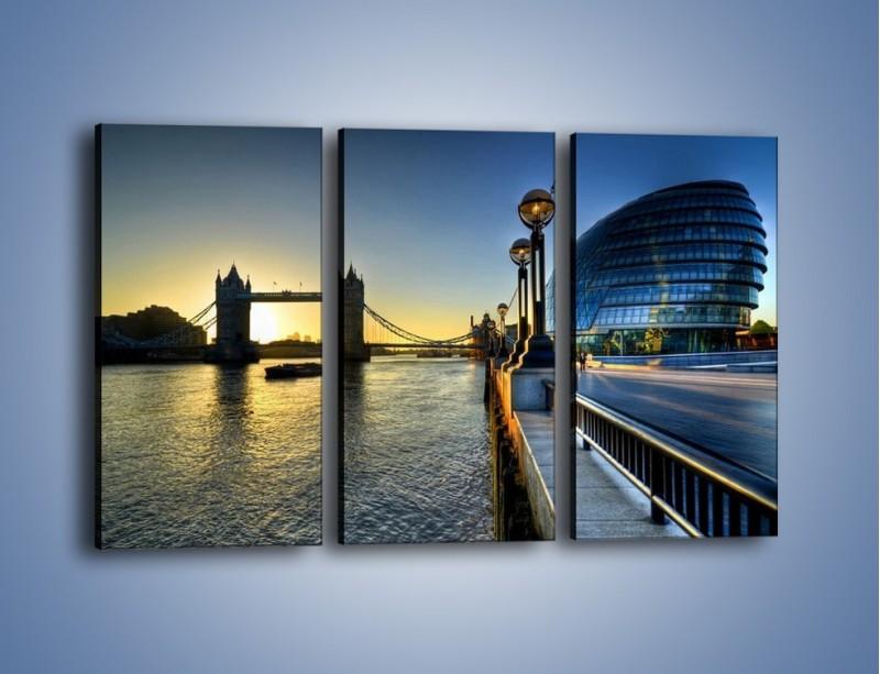 Obraz na płótnie – Londyński Tower Bridge – trzyczęściowy AM348W2