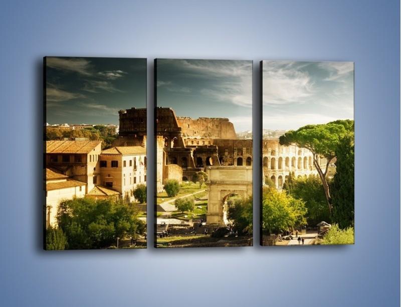 Obraz na płótnie – Ruiny starożytnego Rzymu – trzyczęściowy AM357W2