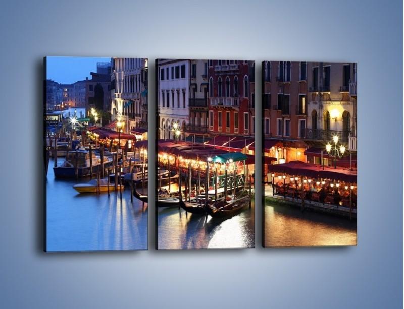Obraz na płótnie – Wieczorowe życie w Wenecji – trzyczęściowy AM358W2