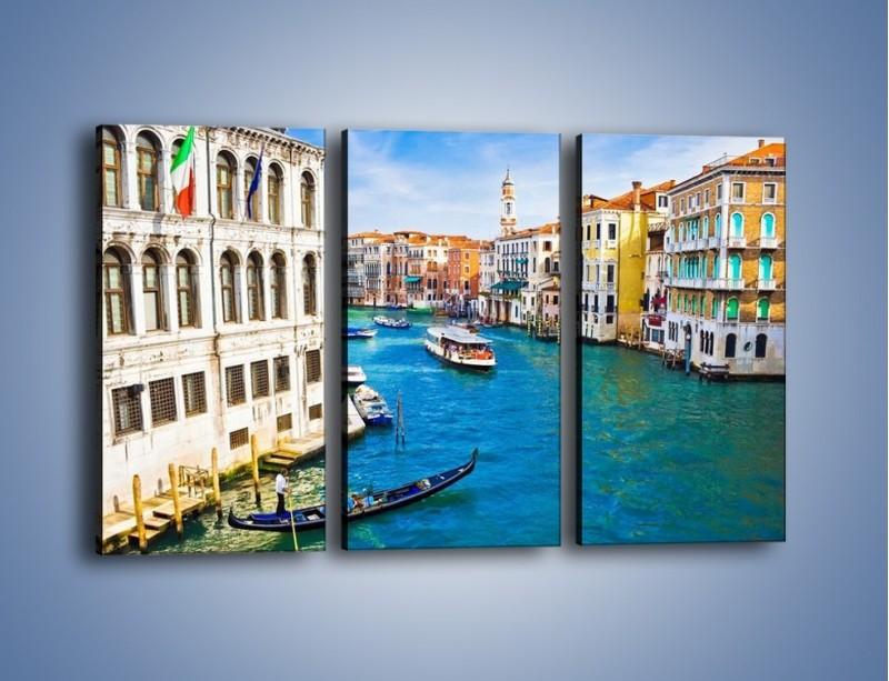 Obraz na płótnie – Kolorowy świat Wenecji – trzyczęściowy AM362W2