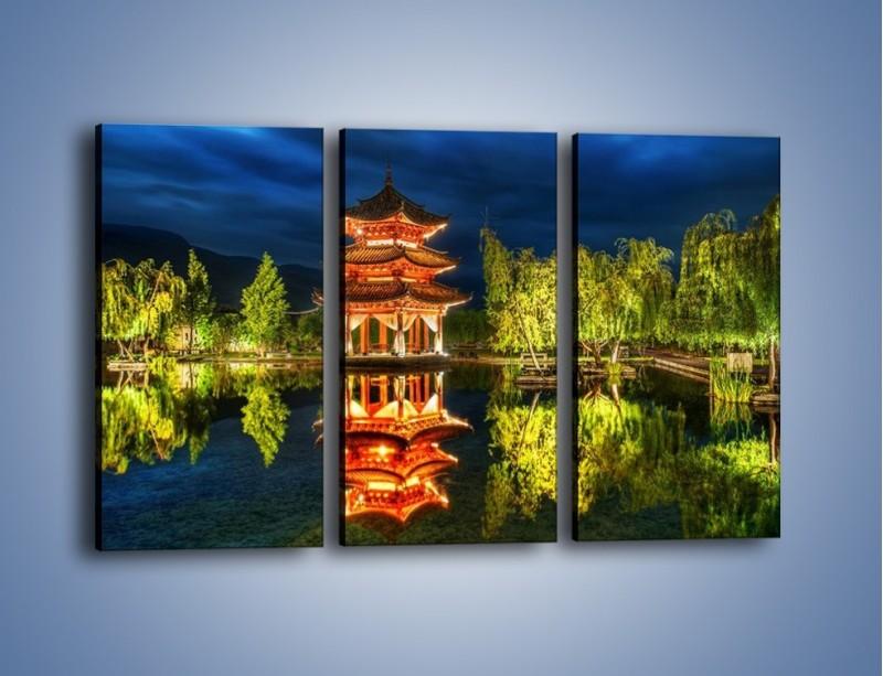 Obraz na płótnie – Urokliwy park w Chinach – trzyczęściowy AM365W2
