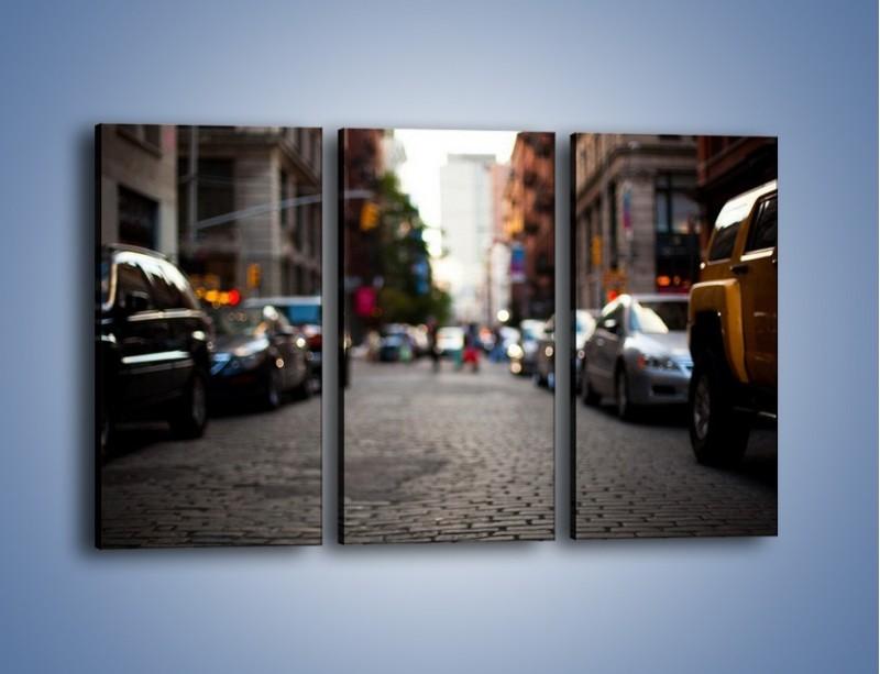 Obraz na płótnie – Rozmyty świat centrum miasta – trzyczęściowy AM367W2