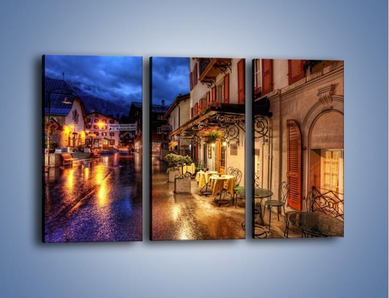 Obraz na płótnie – Romantyczne miasteczko pod Alpami – trzyczęściowy AM368W2