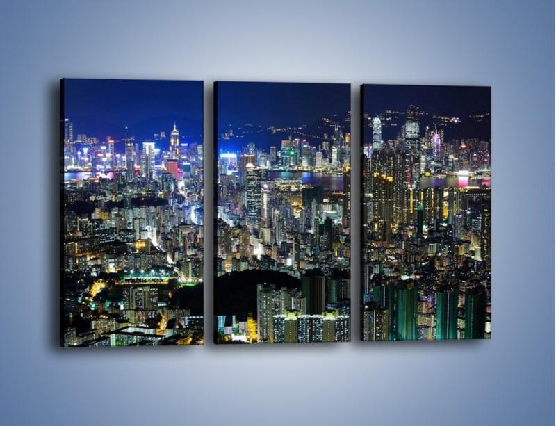 Obraz na płótnie – Drapacze chmur w Hong Kongu – trzyczęściowy AM369W2